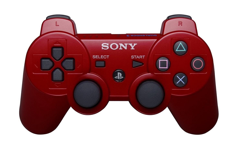Manette contrôleur PlayStation 3, Rouge , dual shock , remise à neuf