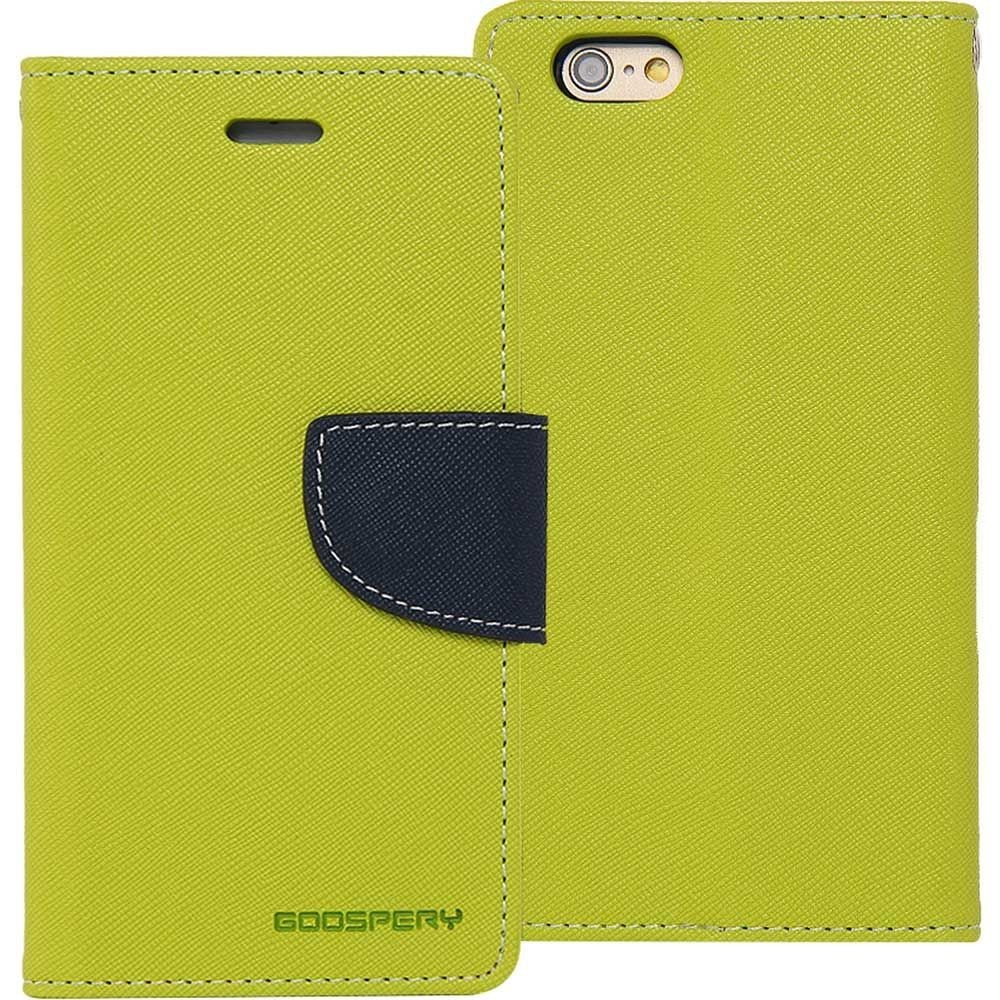 PROTECTEUR - ÉTUI - JAUNE - GOOSPERY - FANCY DIARY CASE - IPHONE 5 / 5S /SE