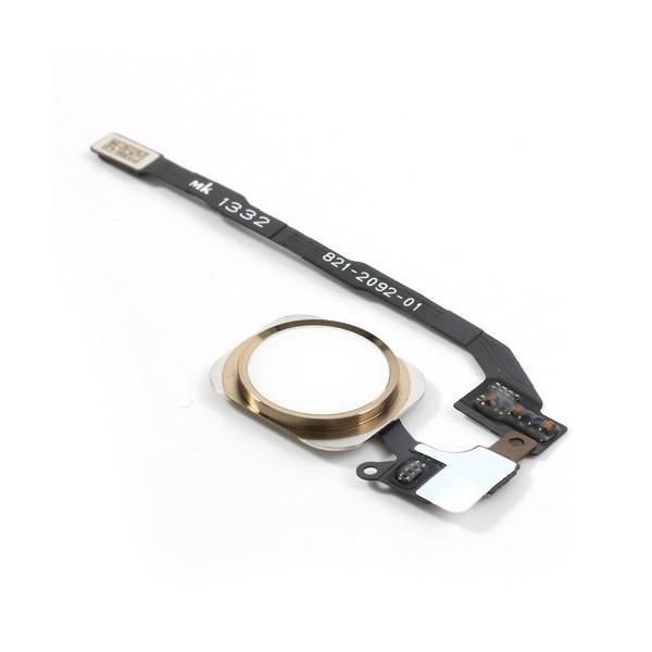 Bouton Home flex câble Blanc/Or pour iPhone 5S