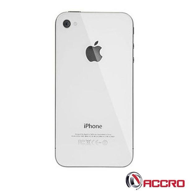Coque arrière   pour iPhone 4 Blanc