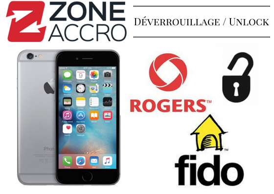 UNLOCK - DÉVERROUILLAGE pour iPhone Rogers / Chatr / Fido - CONTACTEZ-NOUS