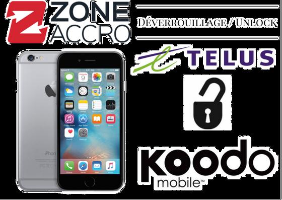 UNLOCK - DÉVERROUILLAGE pour iPhone TELUS/KOODO - CONTACTEZ-NOUS