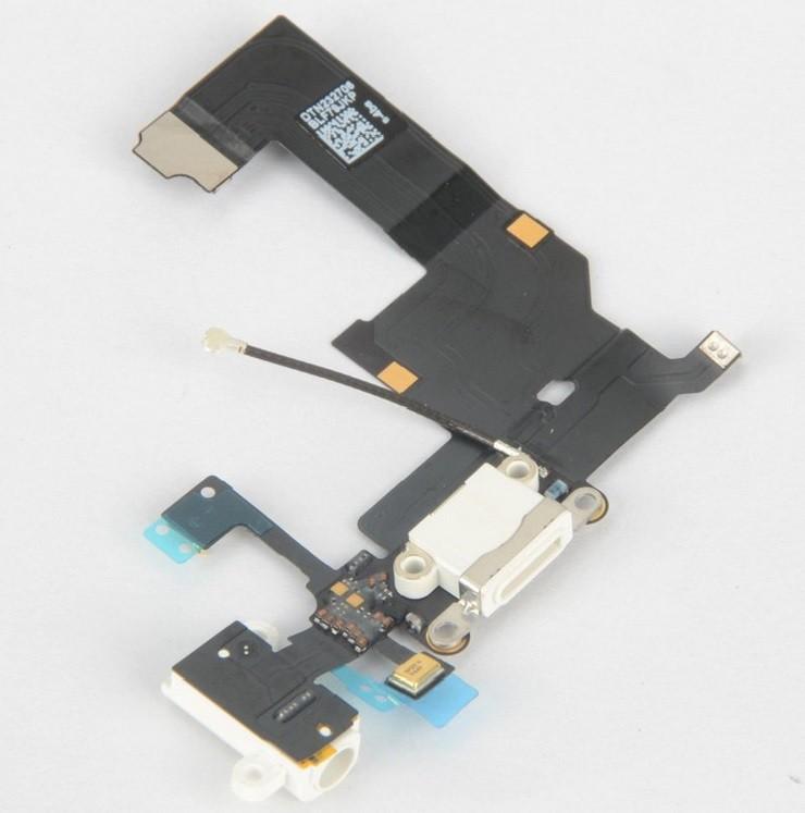 PRISE JACK, ANTENNE GSM, MICRO ET CONNECTEUR DOCK BLANC IPHONE 5