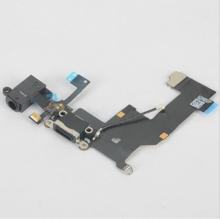 PRISE JACK, ANTENNE GSM, MICRO ET CONNECTEUR DOCK NOIR IPHONE 5S
