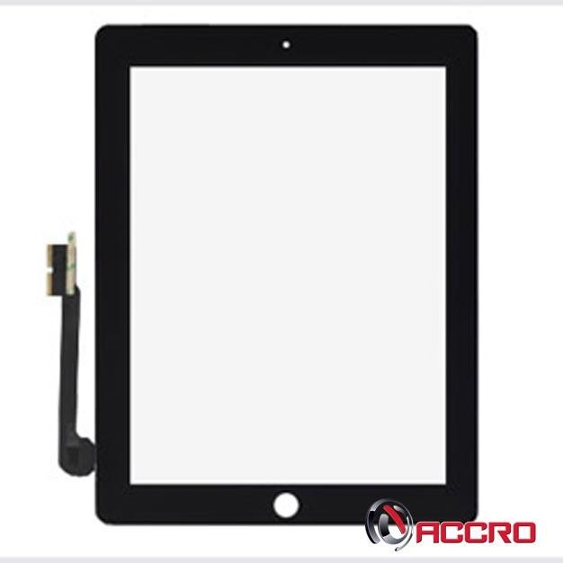 Vitre Tactile Digitizer pour iPad 3 et iPad 4 Apple Noir