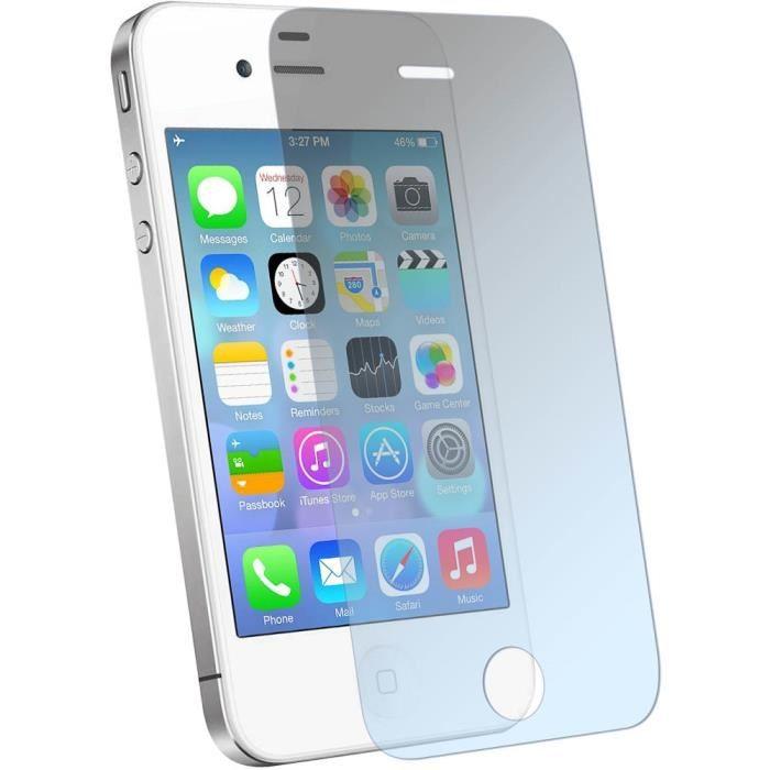 Protecteur d'écran en verre tempéré pour iPhone 4