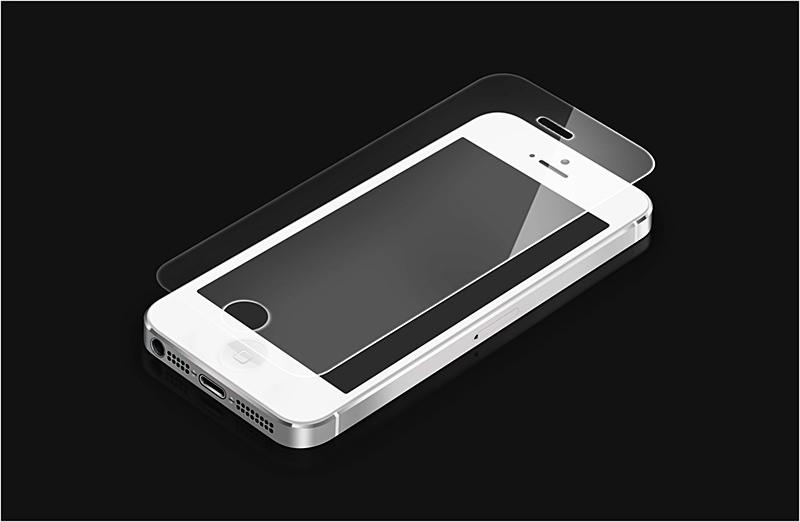 Protecteur d'écran en verre trempé pour iPhone 5 / 5s / 5c