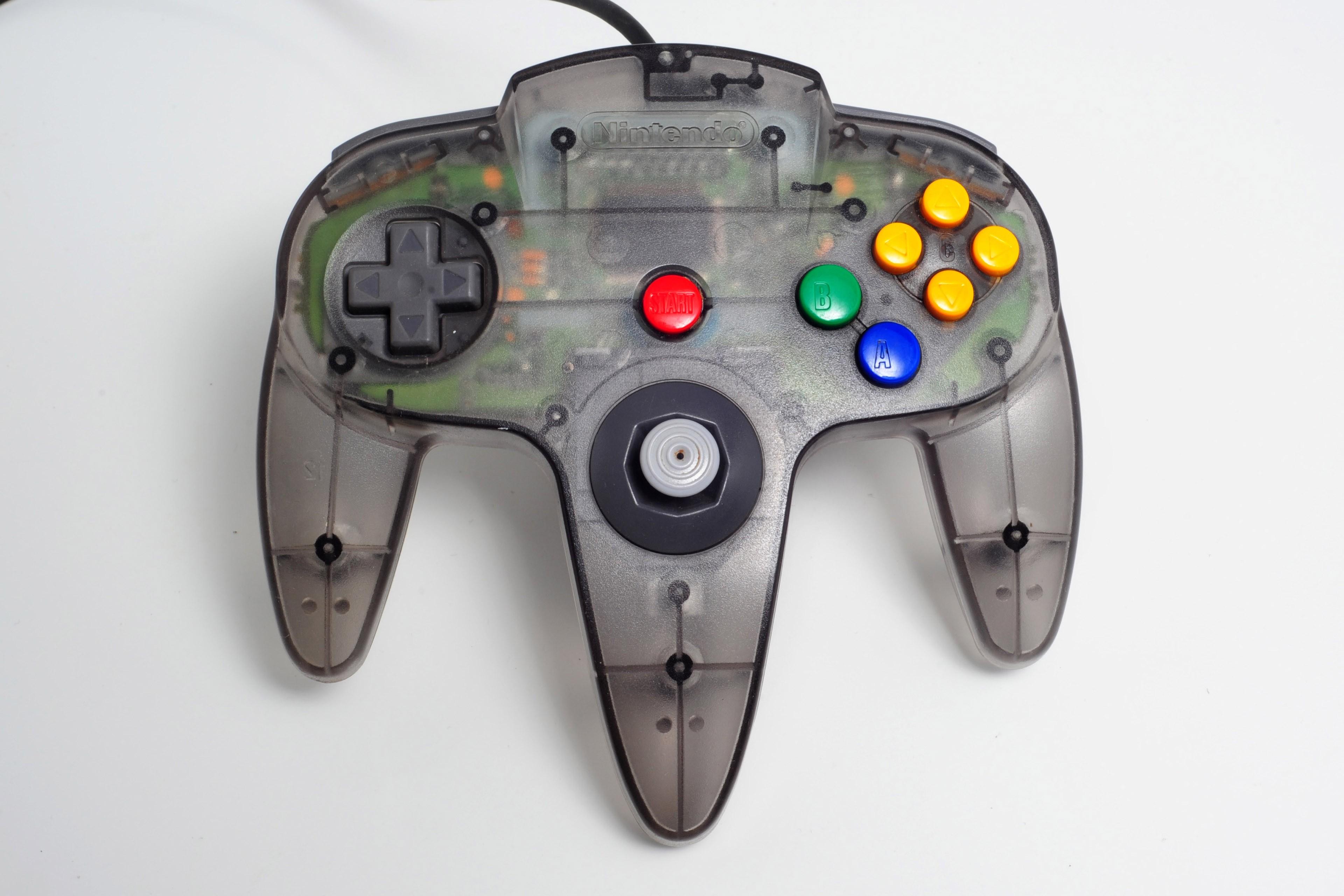 Manette contrôleur originale Nintendo N64 gris smoke atomic remise à neuf