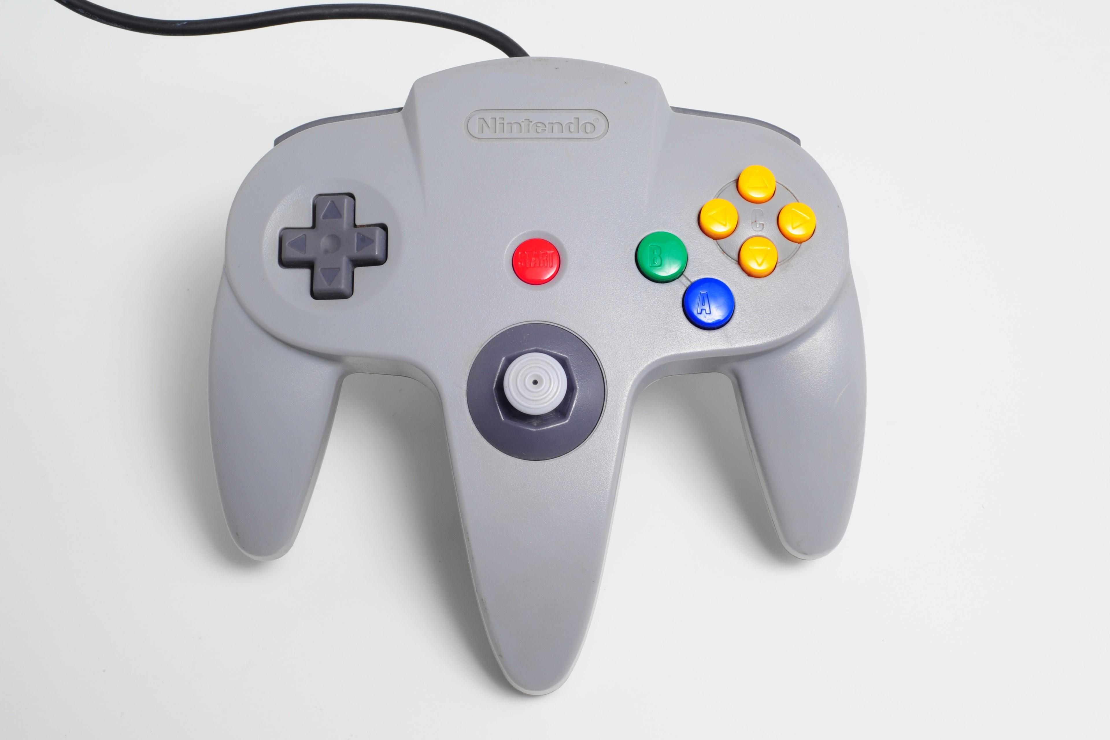 Manette contrôleur originale Nintendo N64 grise remise à neuf