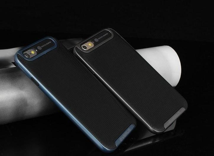 Étui de protection pour iPhone 4/4s - bleu - gris